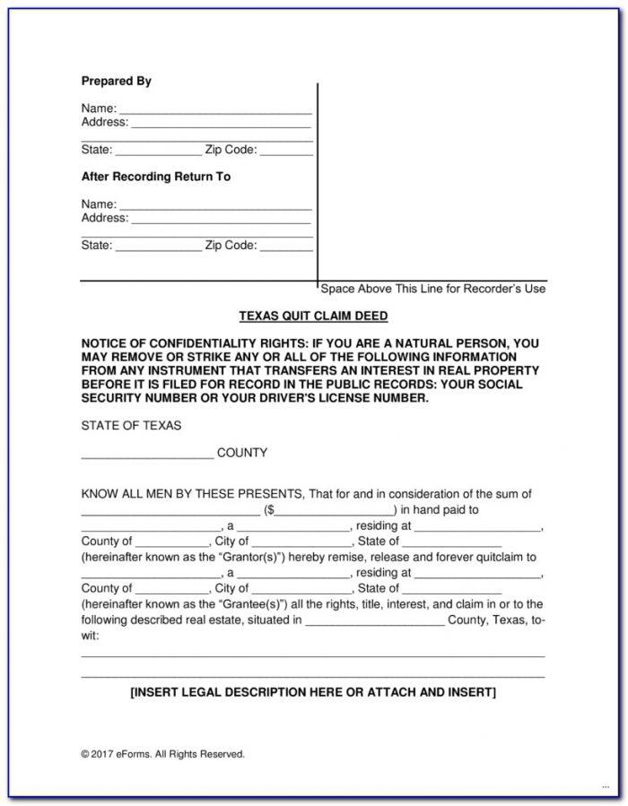 Quit Claim Deed Form Adams County Colorado