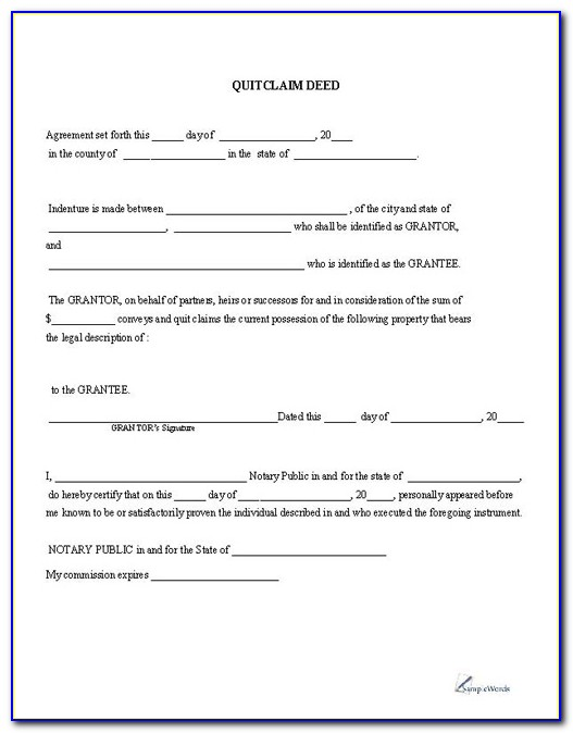 Quit Claim Deed Form Arapahoe County Colorado