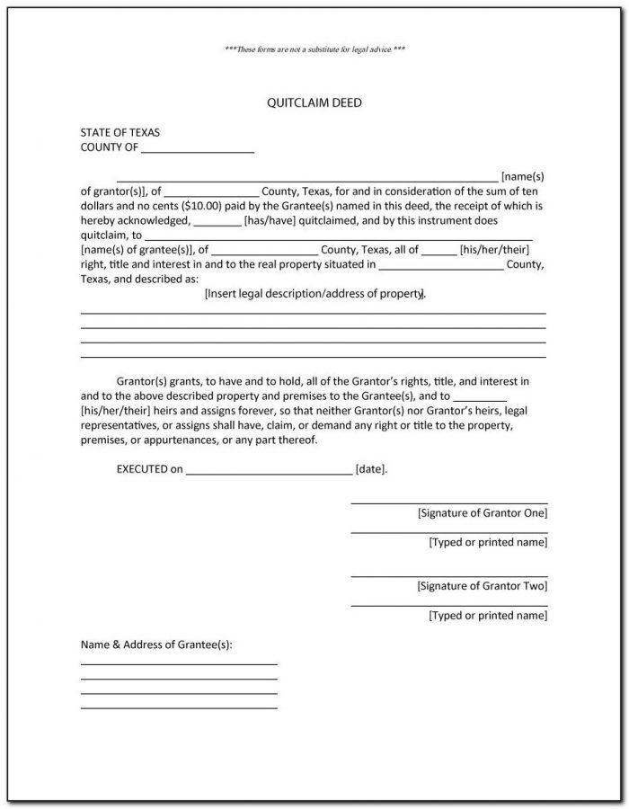 Quit Claim Deed Form Larimer County Colorado