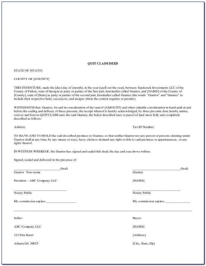 Quit Claim Deed Form Pdf California