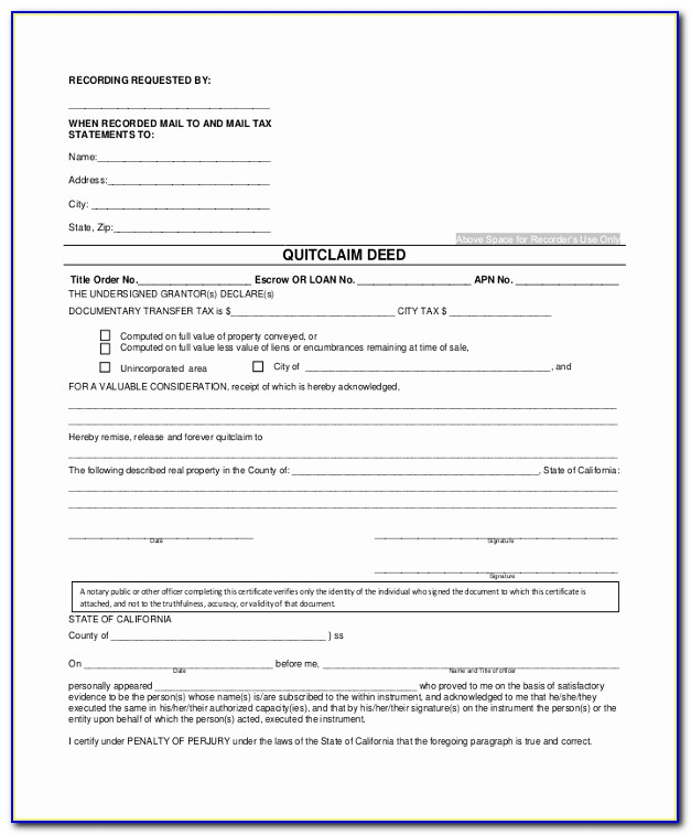 Quit Claim Deed Form Fresh Sample Quitclaim Deed Form 9 Free Documents In Pdf