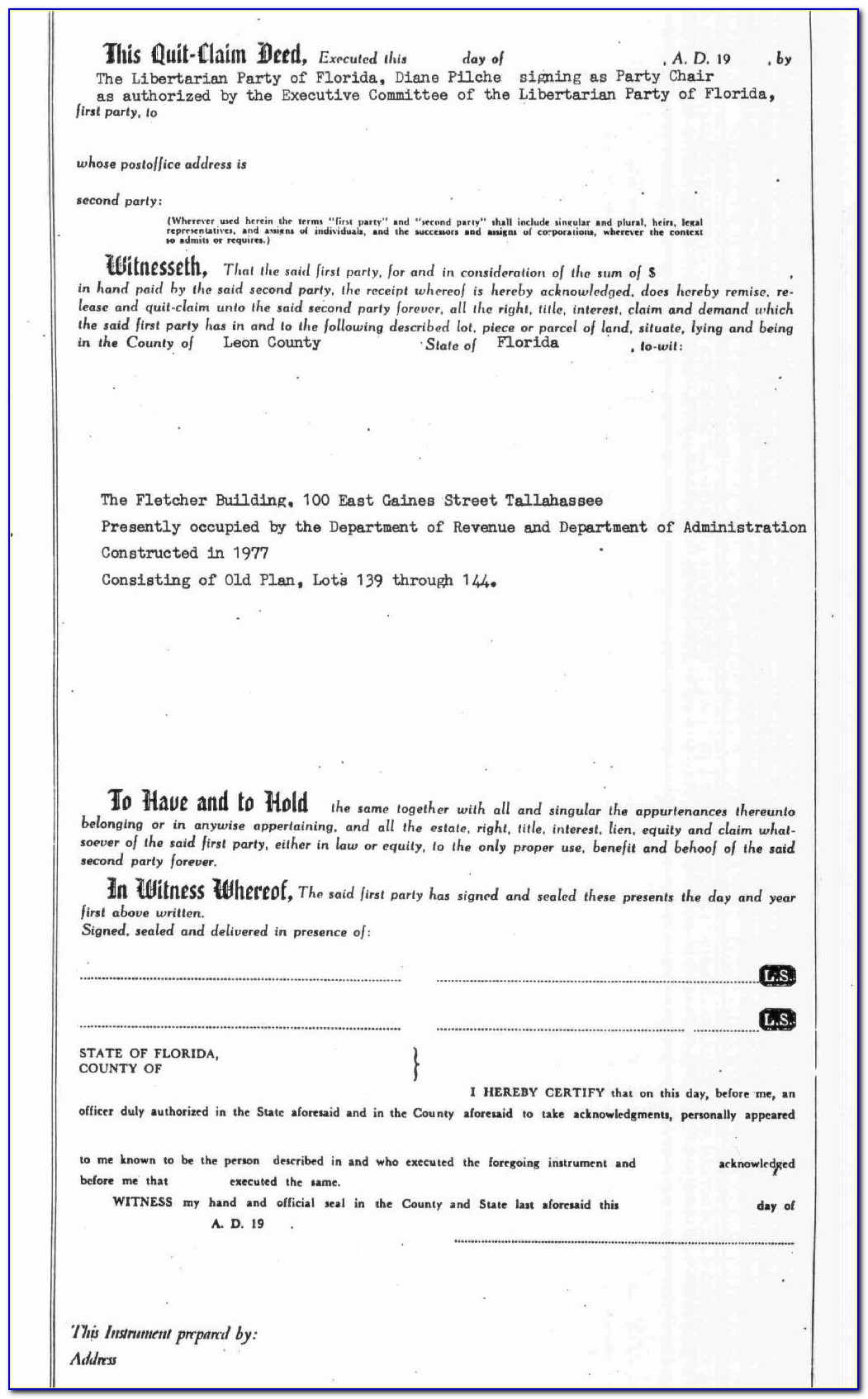 Quit Claim Deed Form Suffolk County Ny