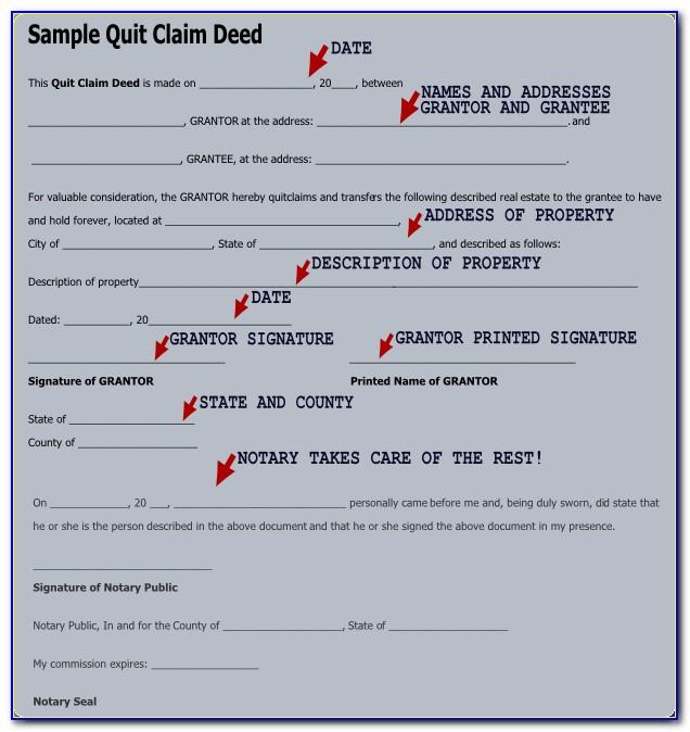 Quit Deed Claim Form Illinois