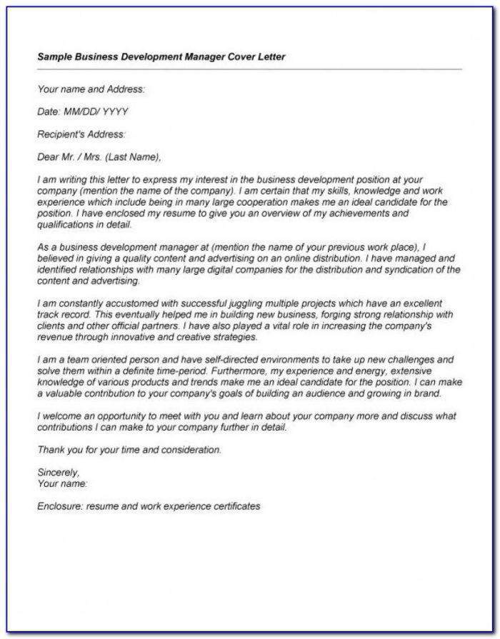 Relationship Manager Cover Letter Sample