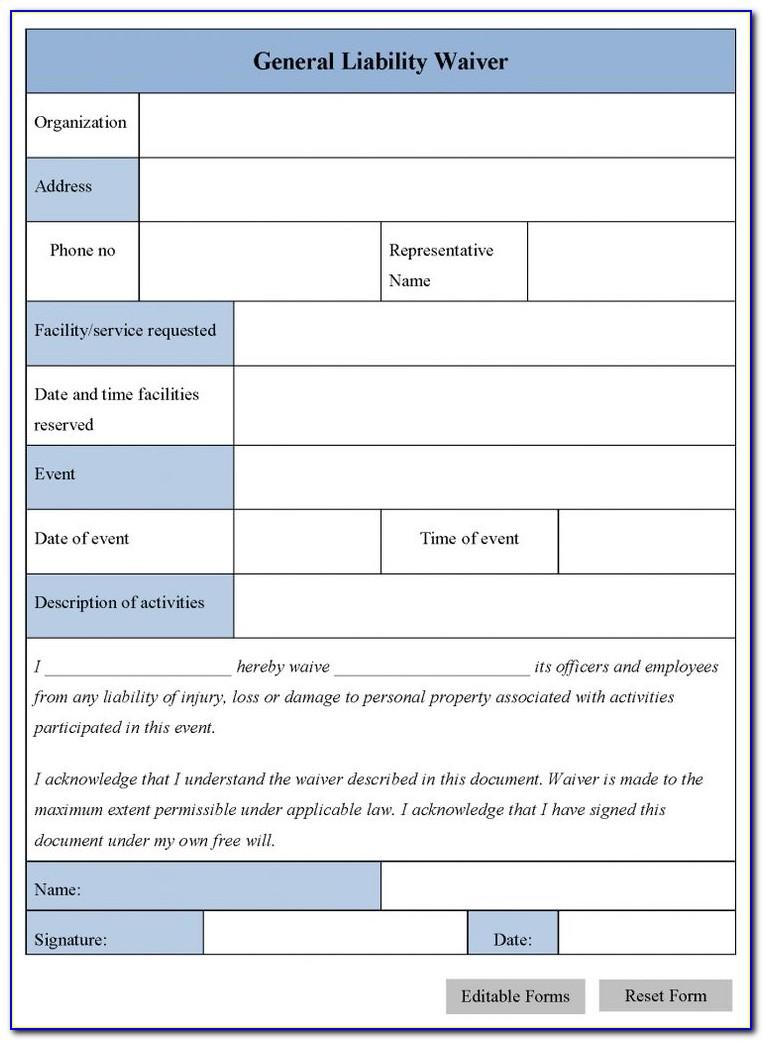 Release Of Liability Form Template Australia