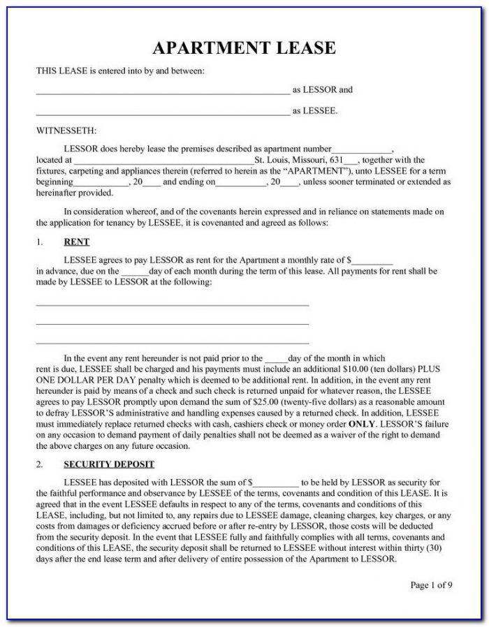 Renters Lease Sample