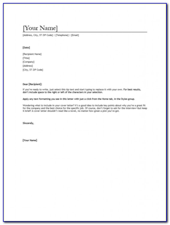 Resume And Cover Letter Templates Australia