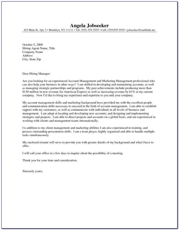 Resume Cover Letter Templates 2017
