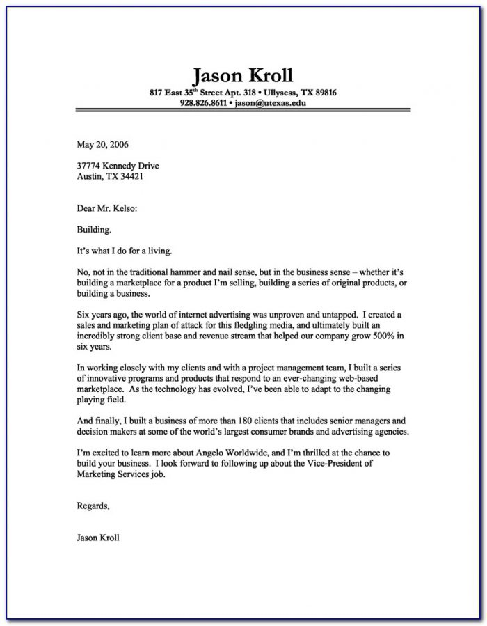 Sample Cover Letter Samples For Resume