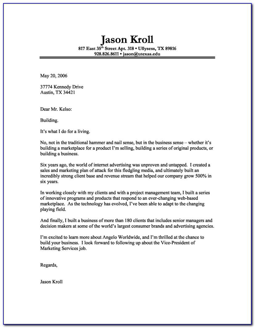 Sample Cover Letter Samples For Resume