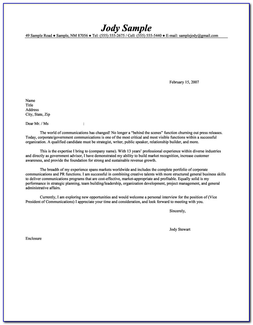 Cover Letter Resume Examples | Cover Letter Templates Intended For Resume Cover Letter Template 2017