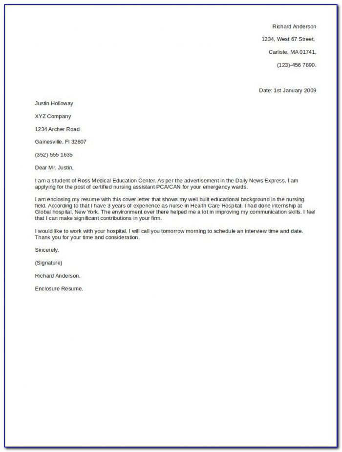 Sample Of Cover Letters For Resumes