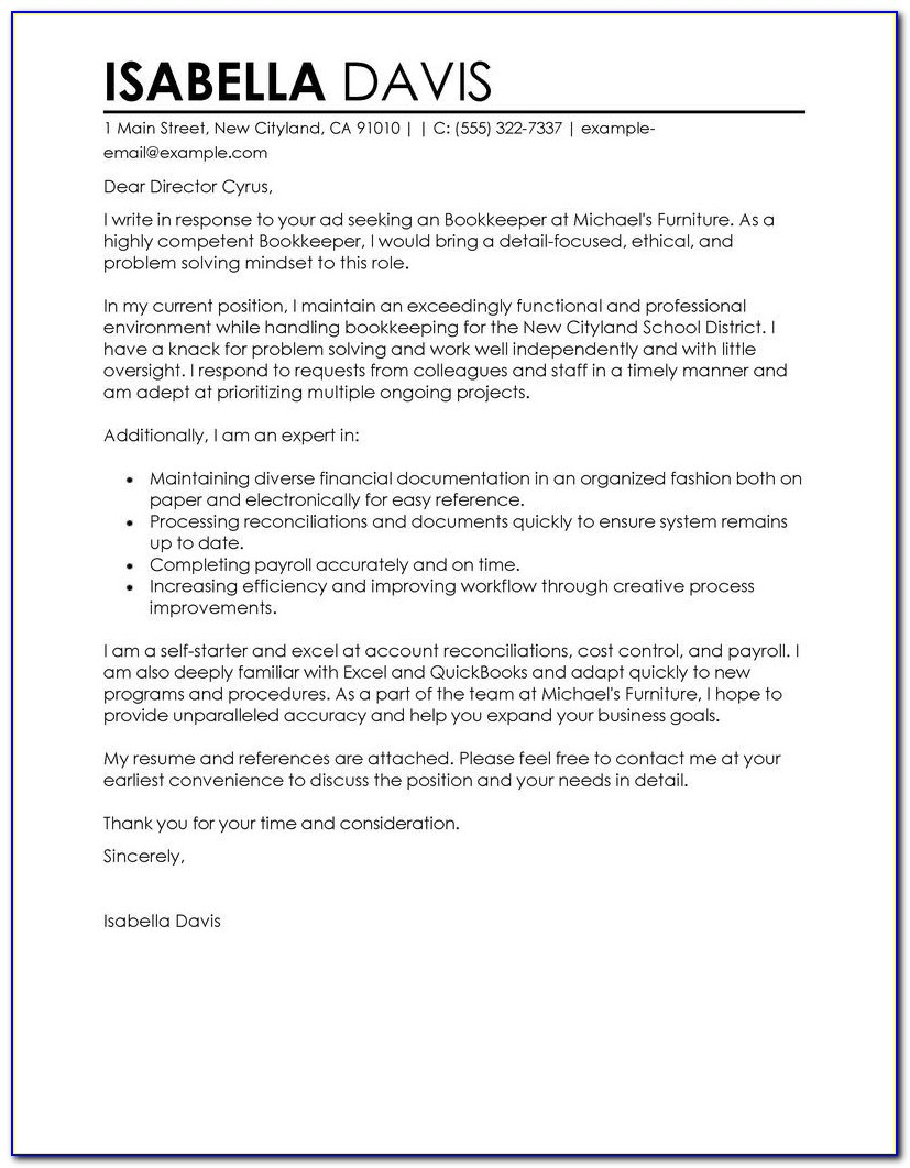 Samples Of Cv And Cover Letter