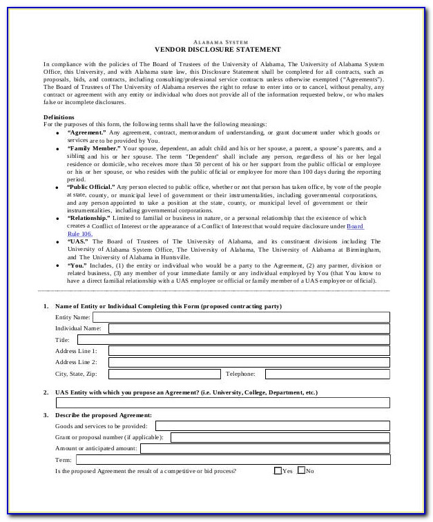 Seller Closing Disclosure Form Fillable