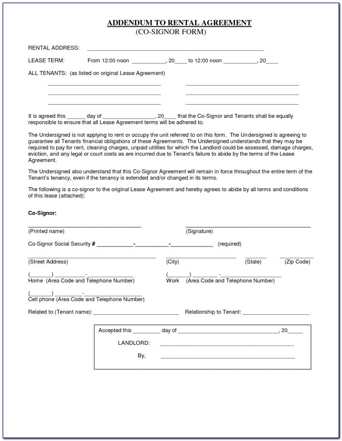 Simple Room Rental Agreement Form Free Uk