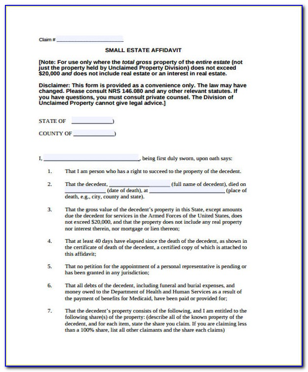 Small Estate Affidavit California Form 13101