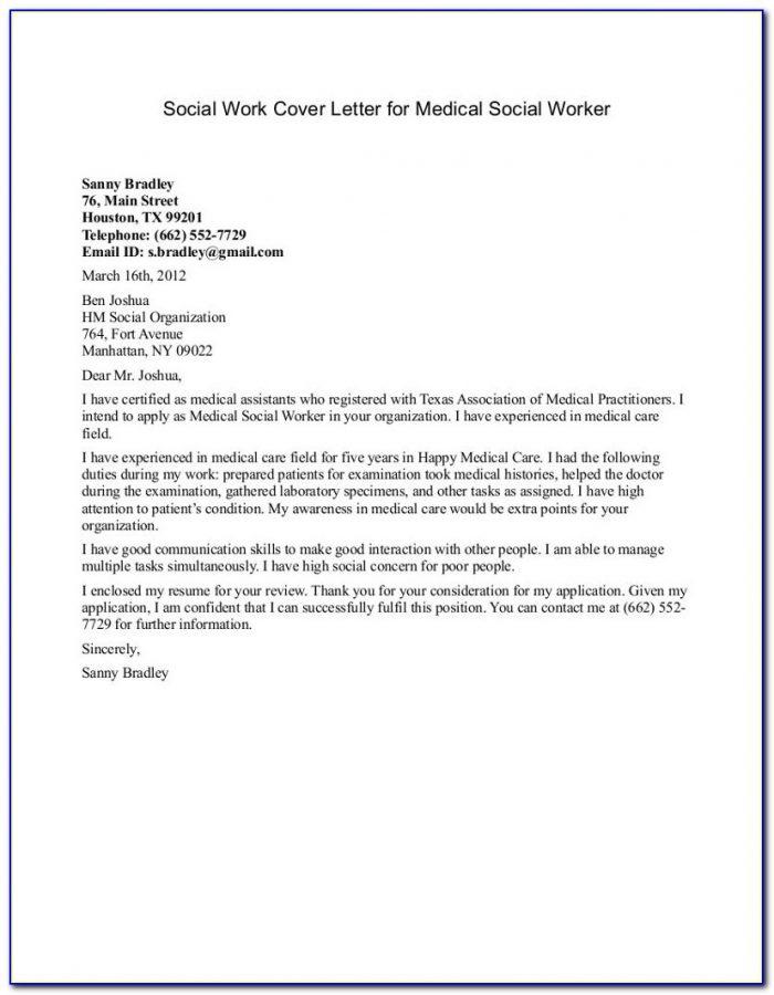 Social Worker Cover Letter Samples Free