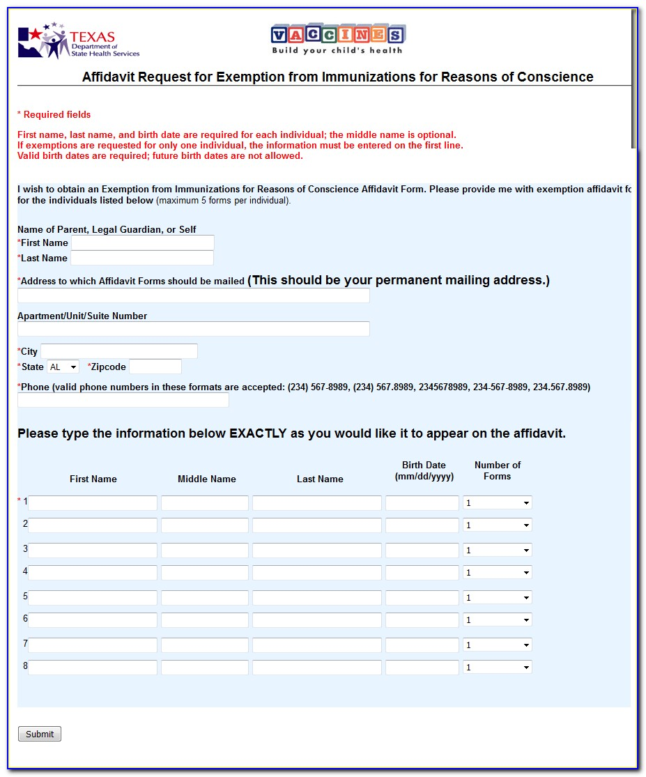 Statutory Affidavit Of Heirship Form Texas