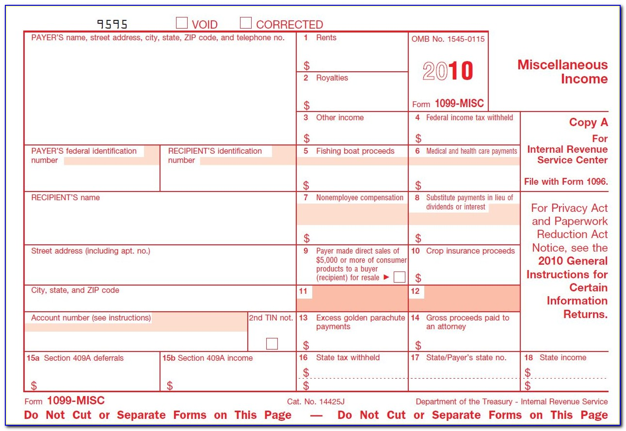 Substitute Form 1099 S Fillable