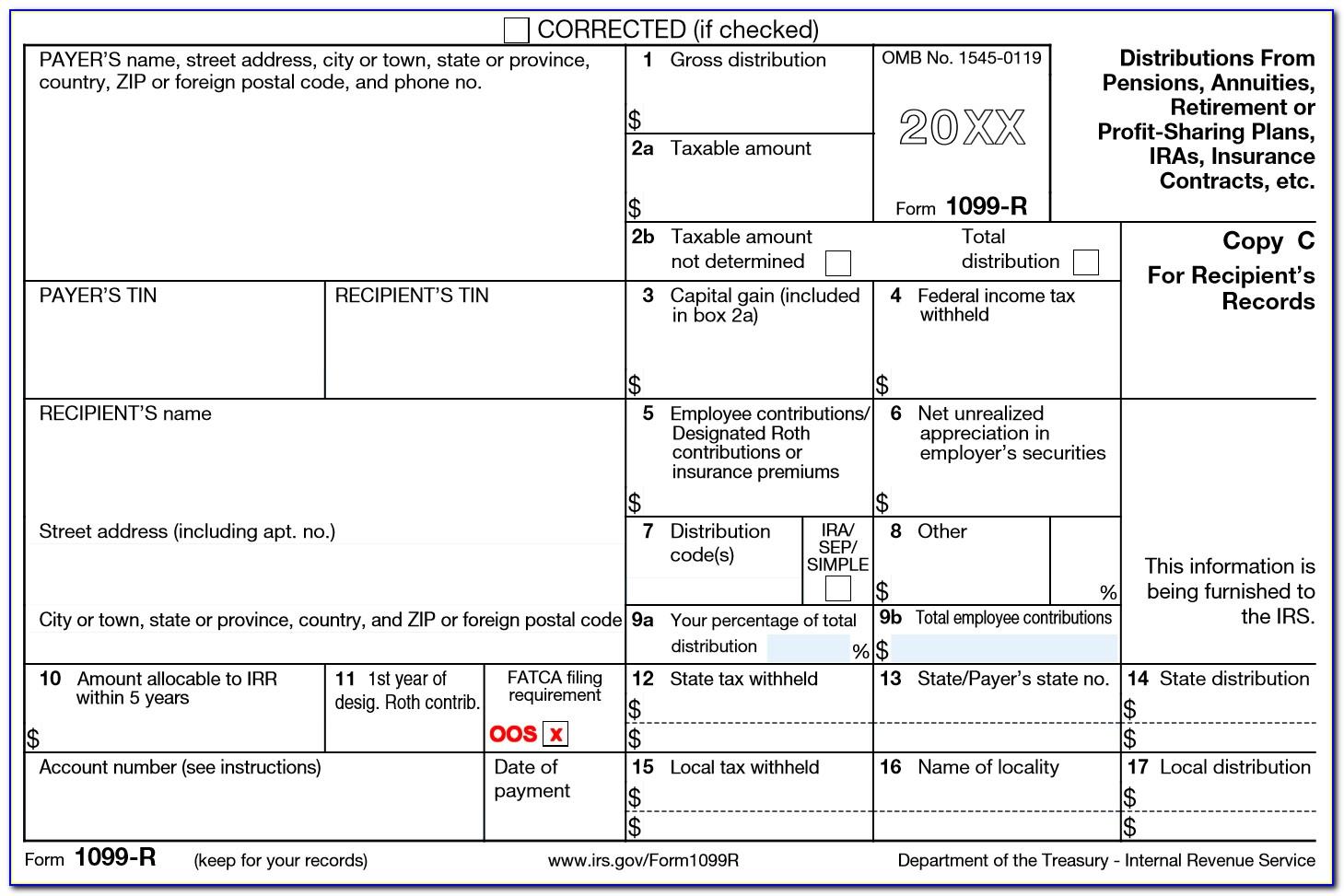 Tax Form 1099 R Distribution Codes