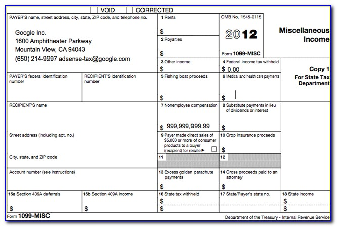Tax Forms 1099s