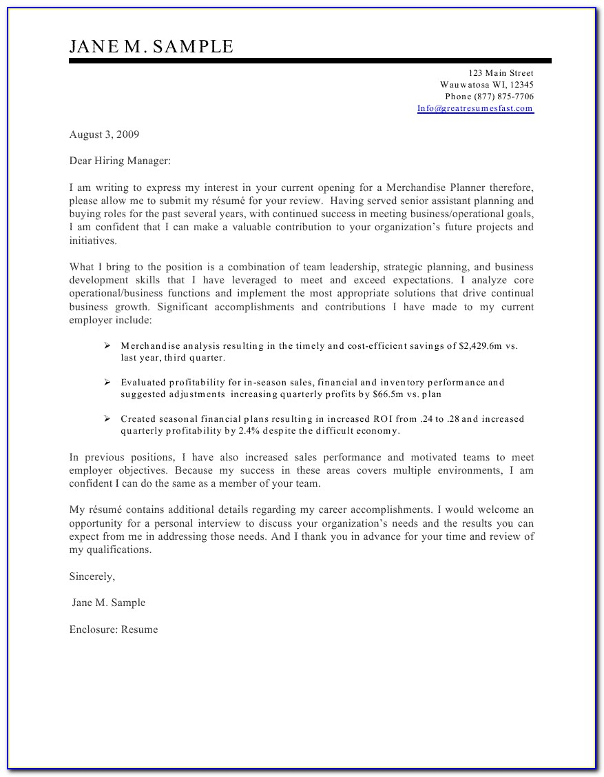 Templates Of Resume Cover Letters