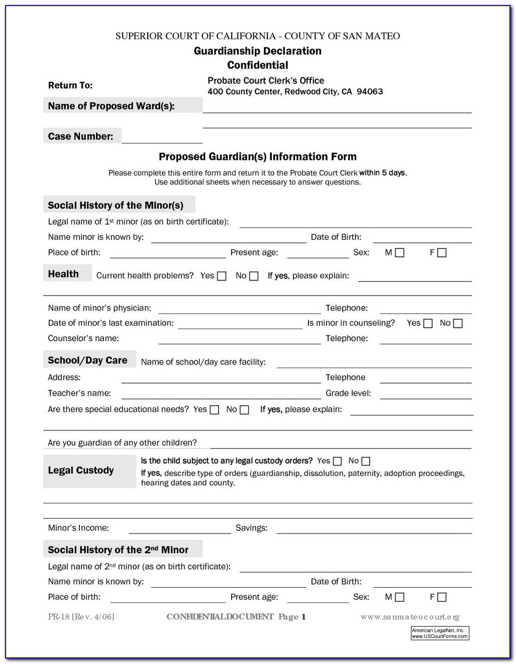 Temporary Guardianship Form For Grandparents Ontario