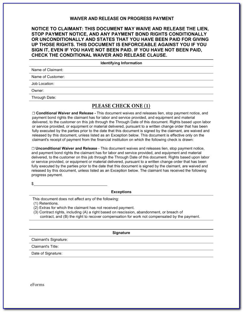 Texas Mechanic's Lien Affidavit Form