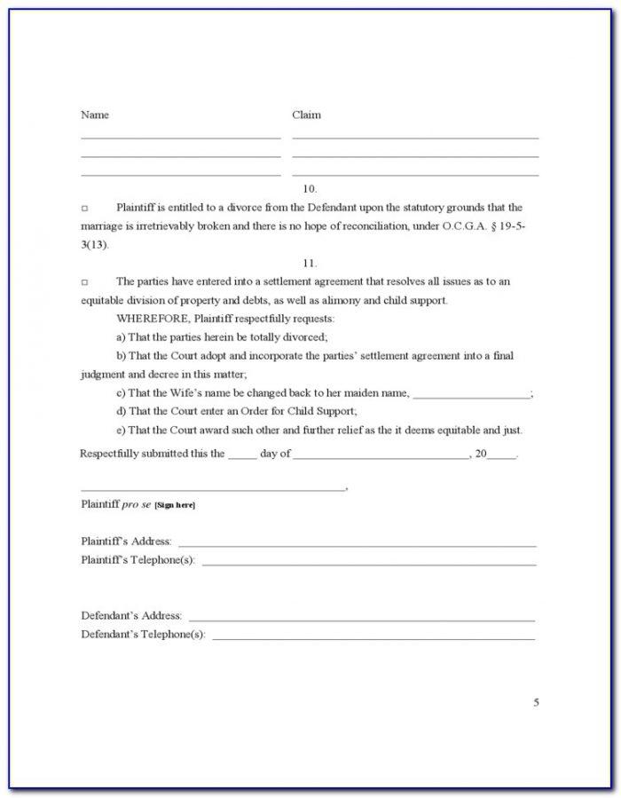 Uncontested Divorce Forms Pdf
