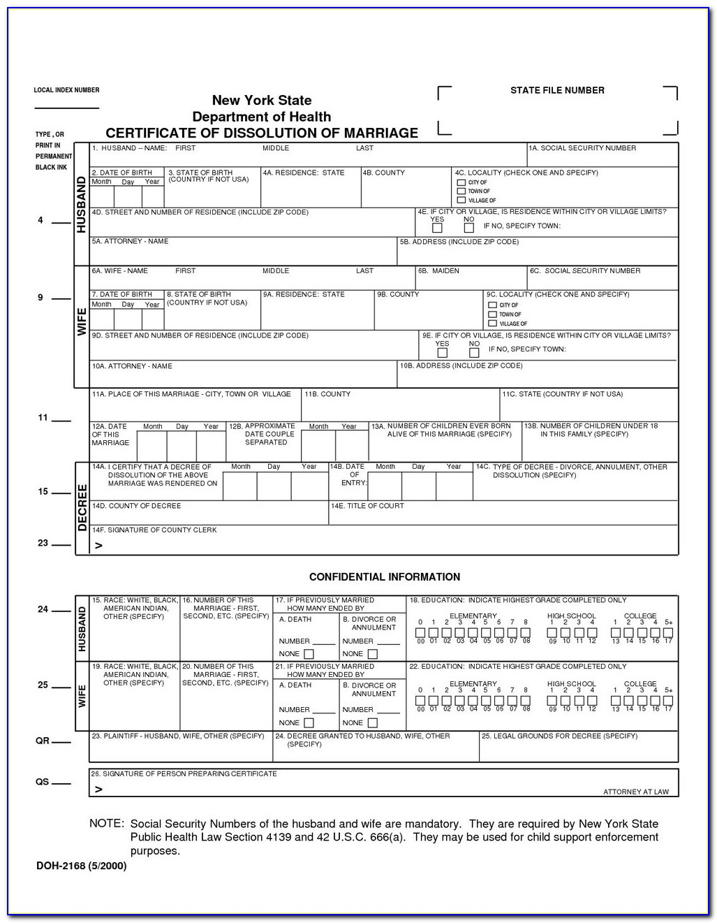 Uncontested Divorce Paperwork Ny