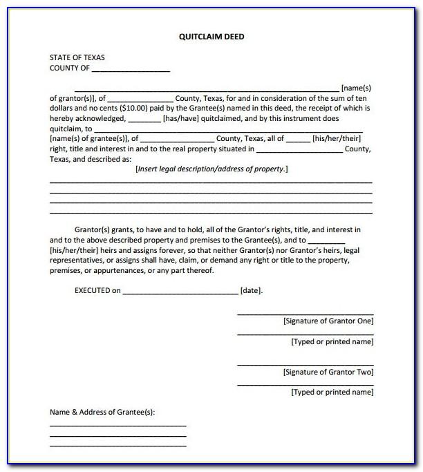 Wake County Nc Quit Claim Deed Form