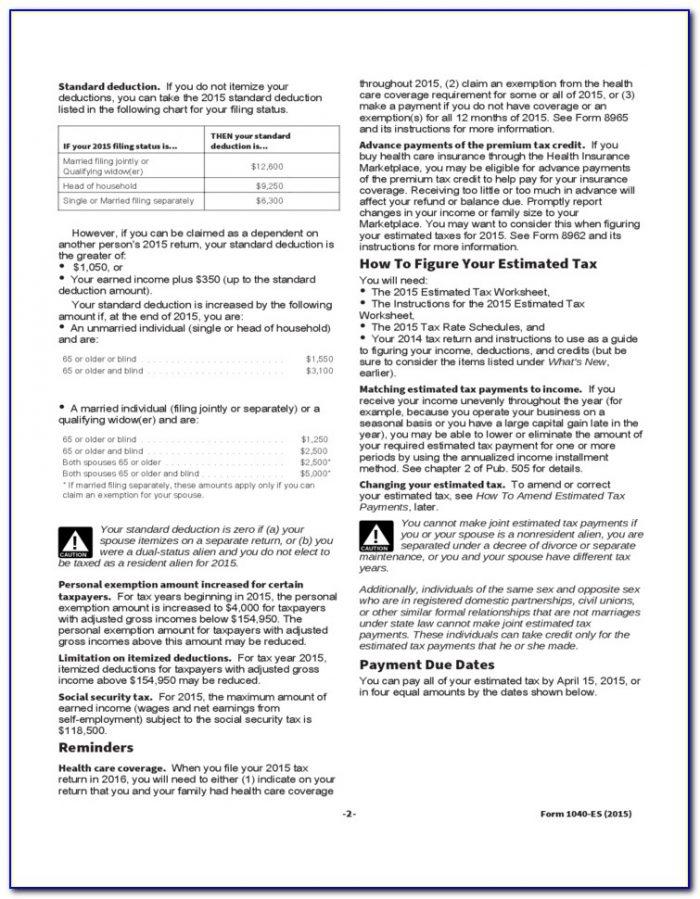 1040 Es Form Online