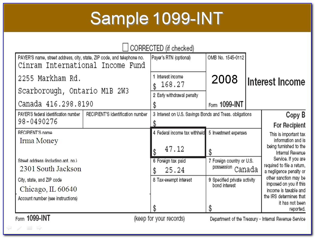 1099 Form Tax Filing