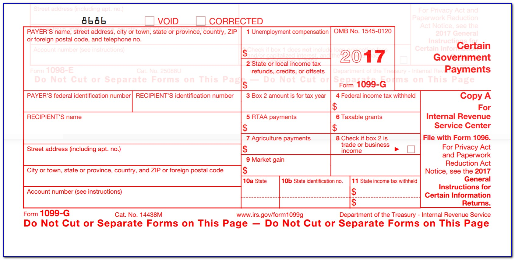 1099 Misc Form 2017 Template