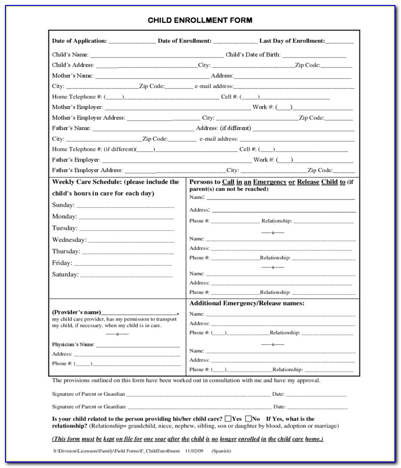 Ach Enrollment Forms For Vendors