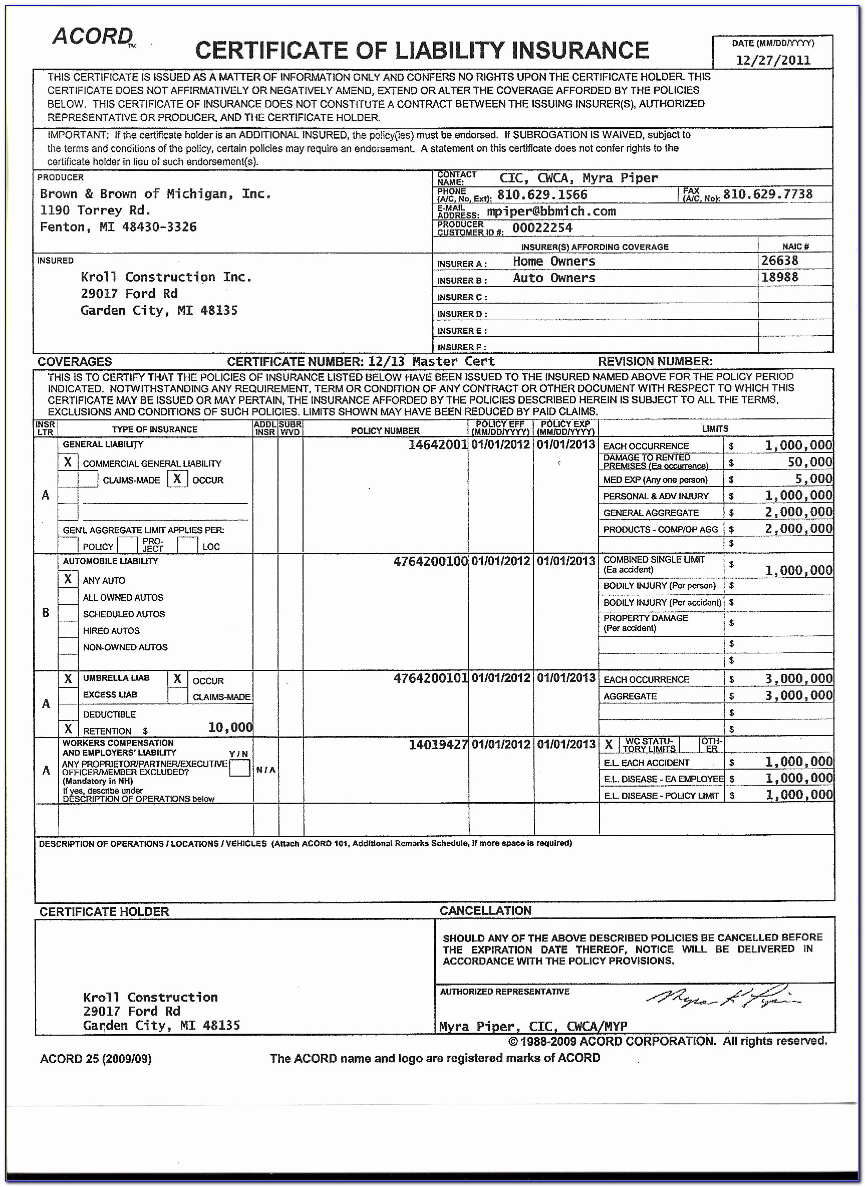 Blank Certificate Of Insurance Awesome Blank Certificate Insurance Form Lovely Acord Certificate