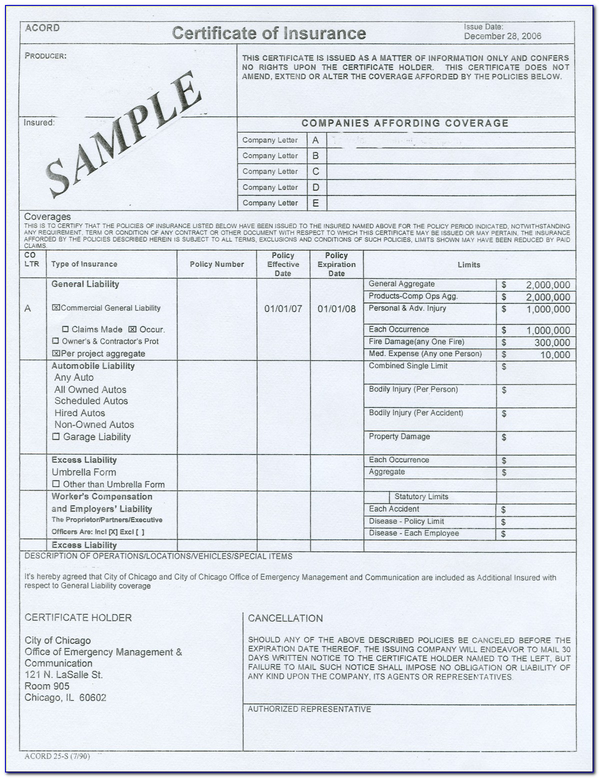 Insurance Binder Acord Form - Form : Resume Examples # ...