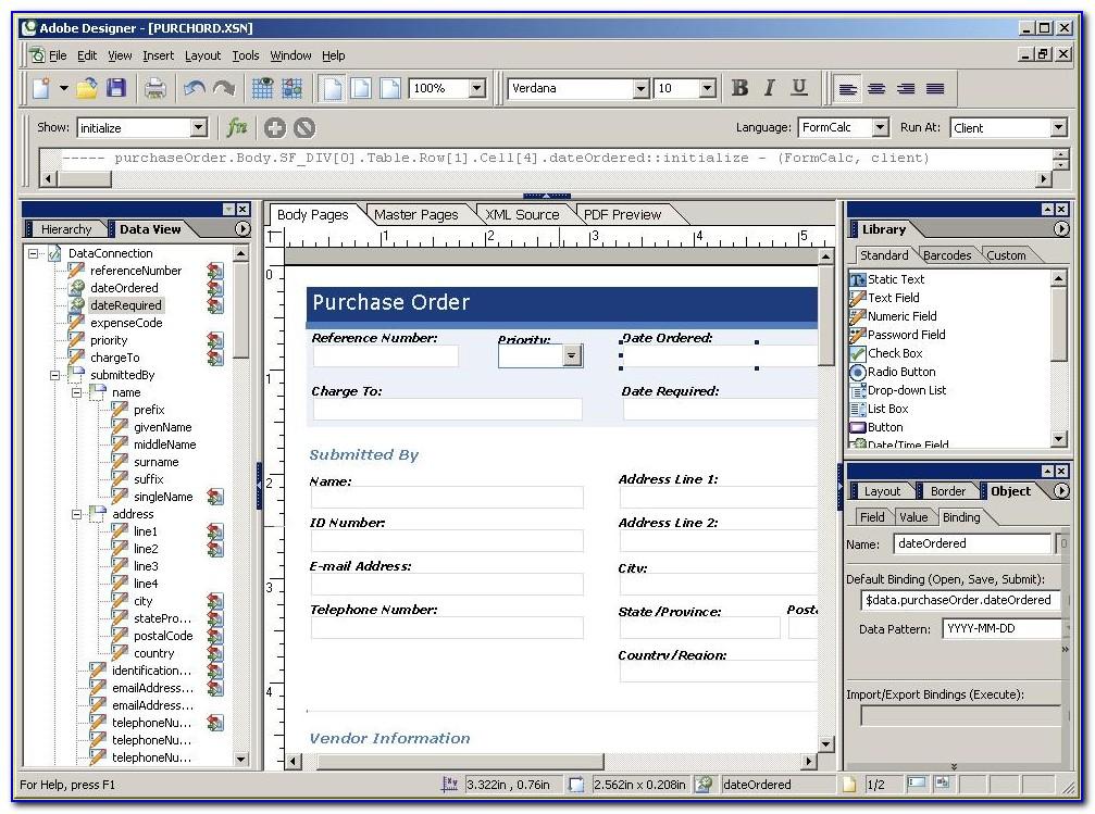 Adobe Forms Designer Sap