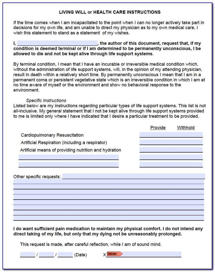 Advance Directives Forms Colorado
