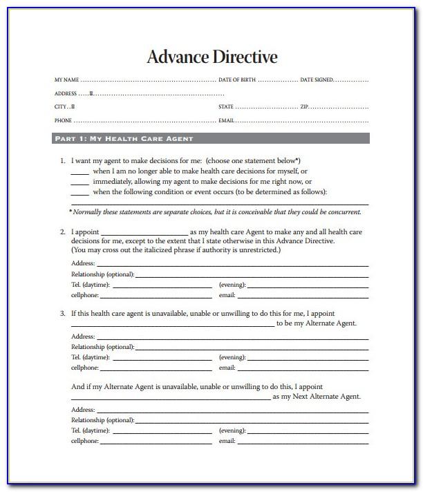 Advance Directives Forms Texas