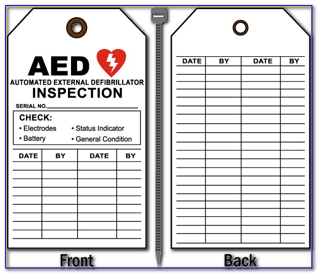 Aed Inspection Form Osha