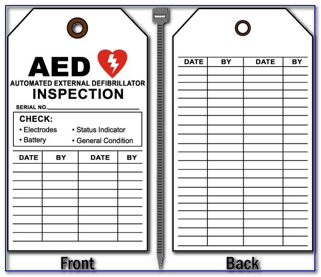 Aed Inspection Form Osha