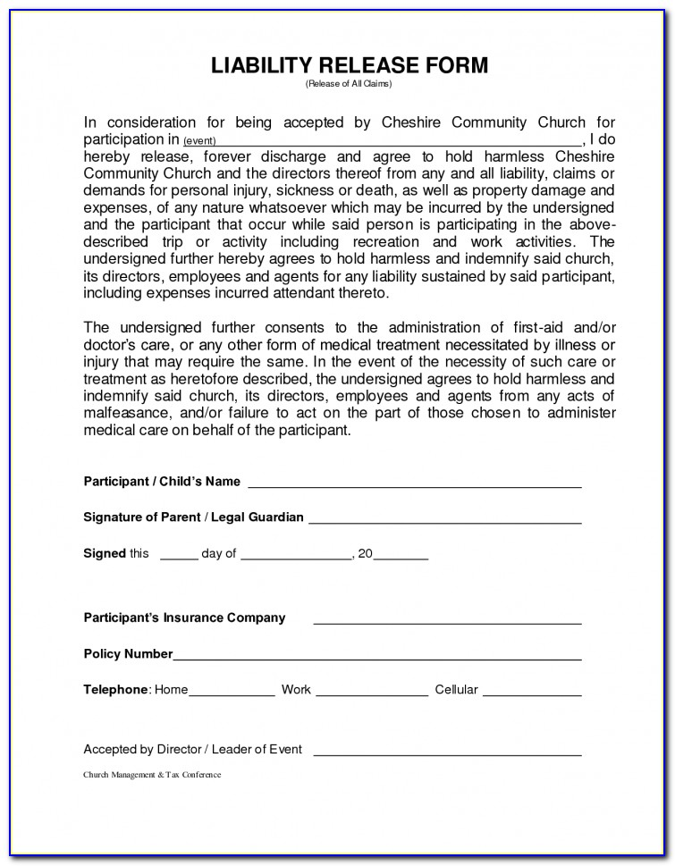 Air Trampoline Waiver Form