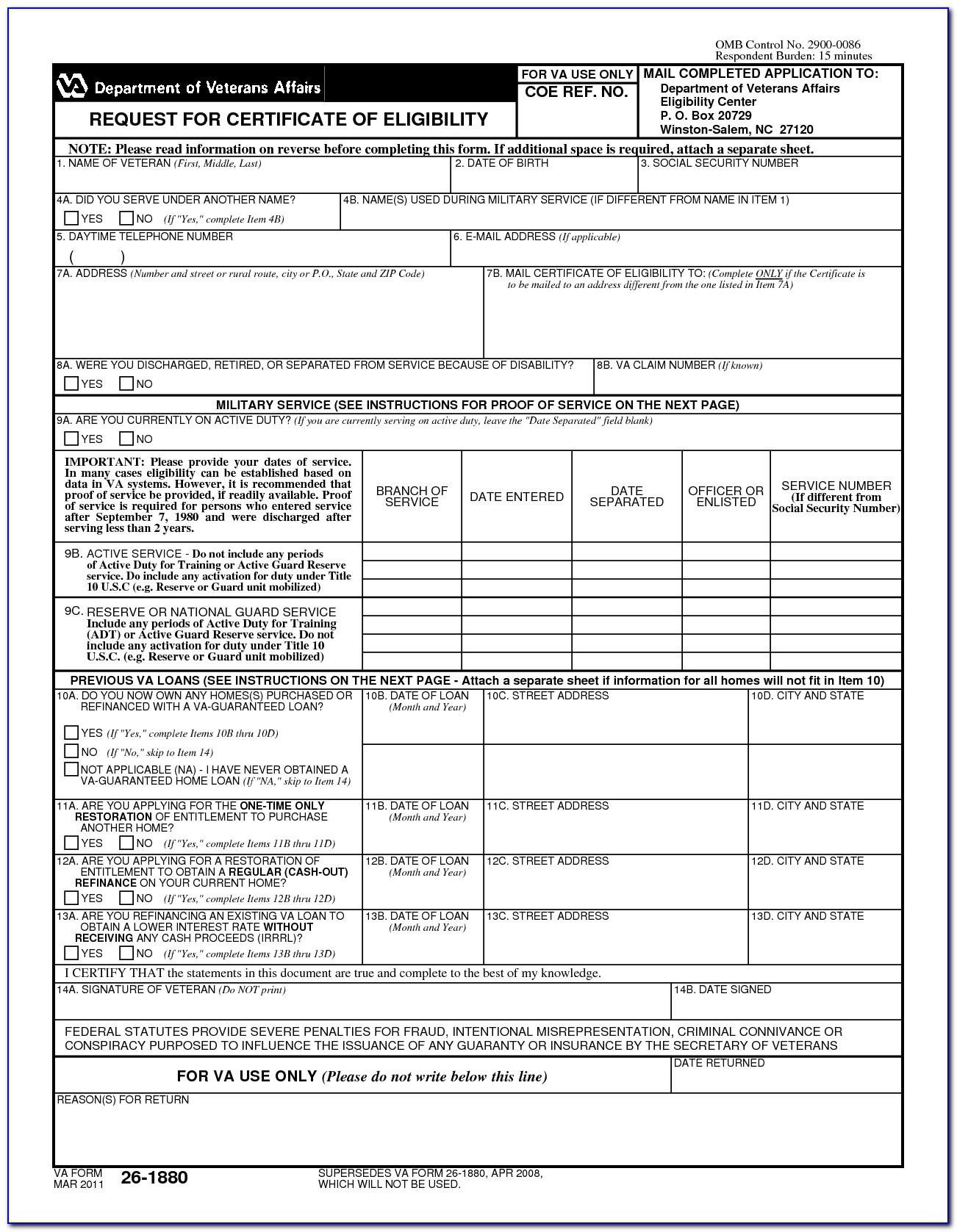 Apply Online Va Form 26 1880