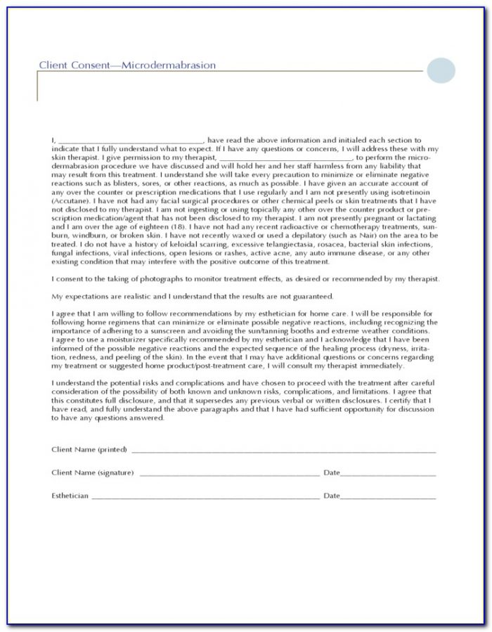 Ascp Chemical Peel Consent Form