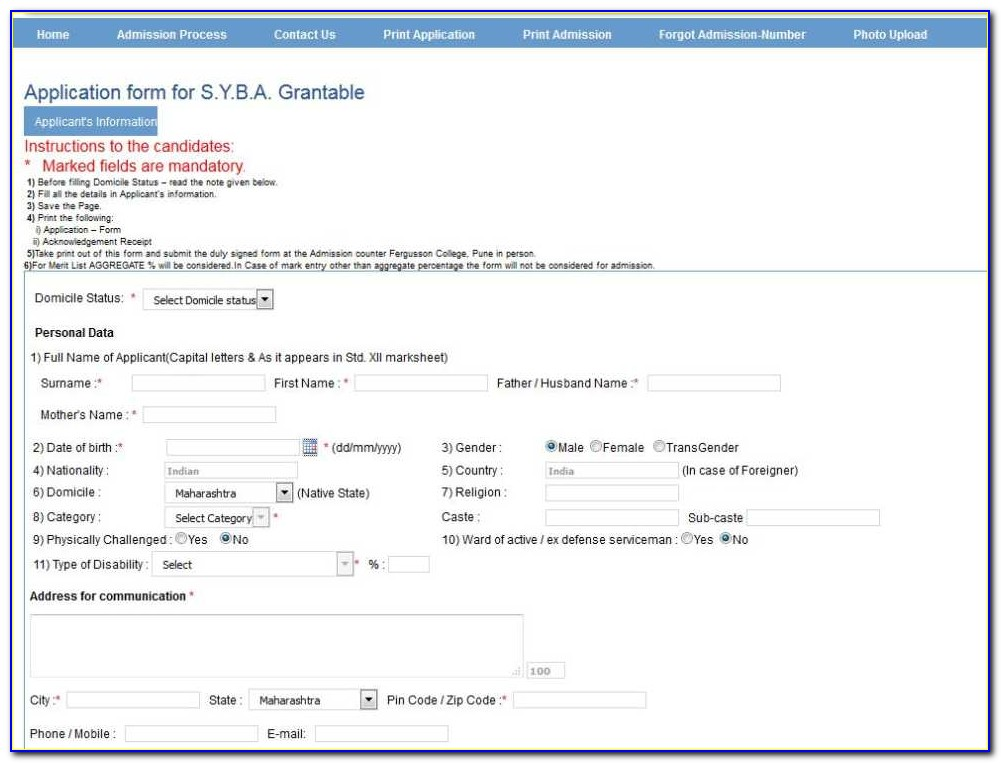 Bba Admission Form Of Dhaka City College