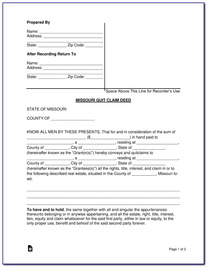 Beneficiary Deed Missouri Form Free