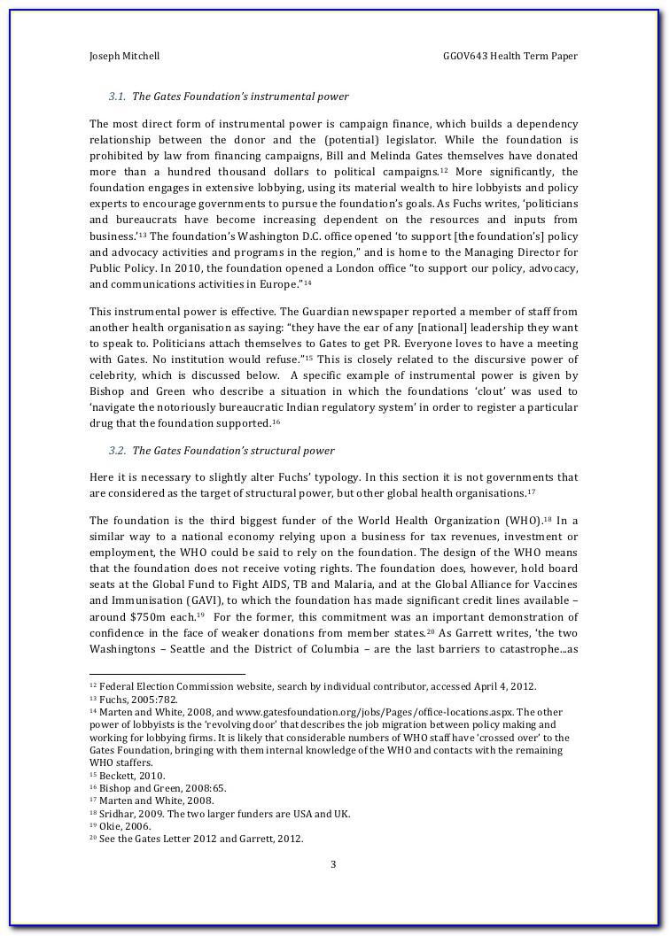 Bill And Melinda Gates Foundation Grant Application Form 2018