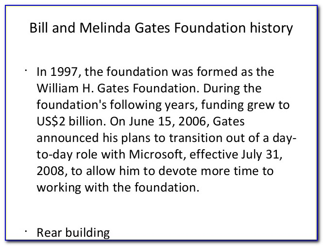 Bill And Melinda Gates Foundation Grants For Schools