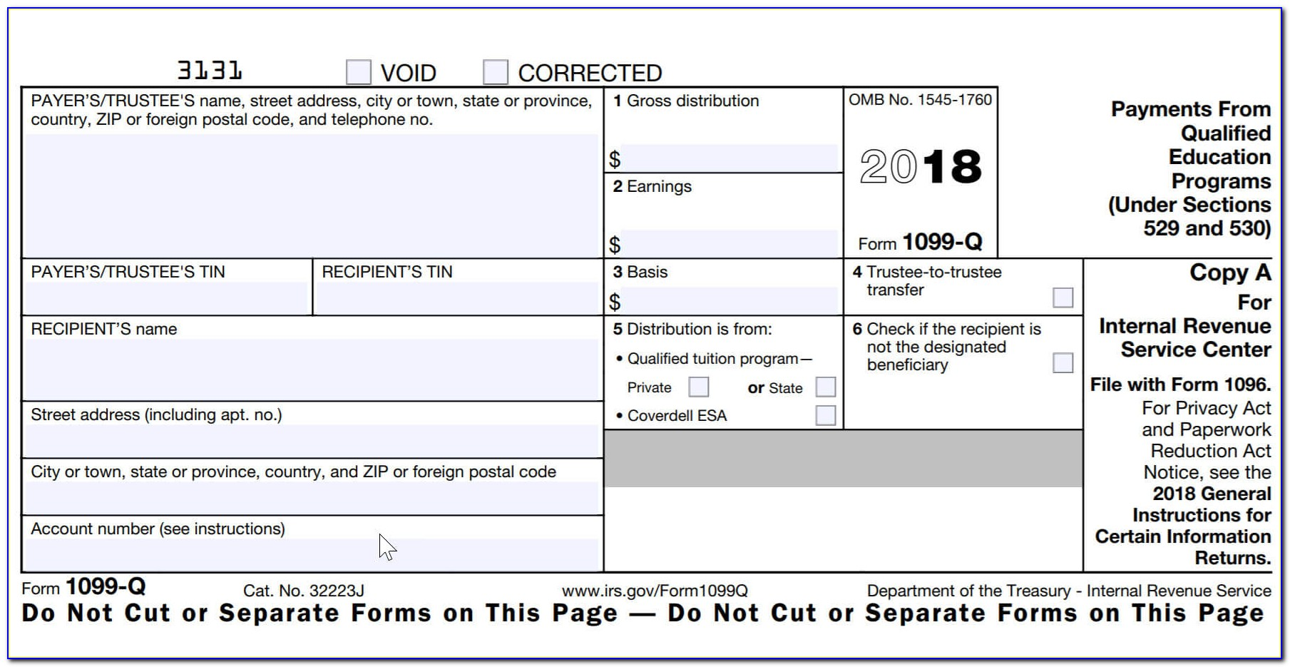 Blank 1099 Misc Form 2015